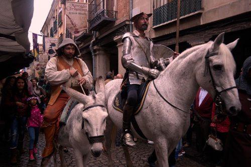Don Quijote y Sancho Panza en el Mercado Cervantino