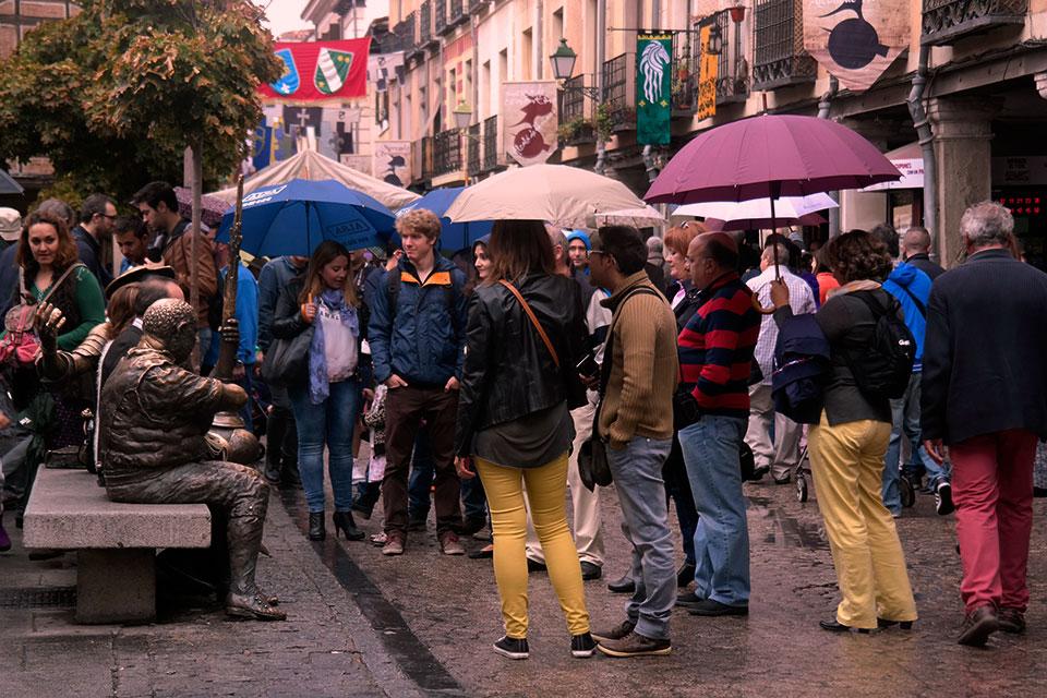 Paraguas en el Mercado Cervantino