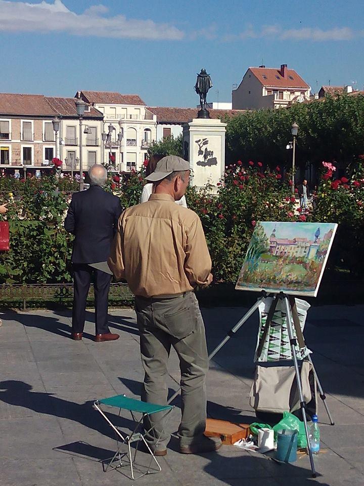 Pintor en la Plaza de Cervantes