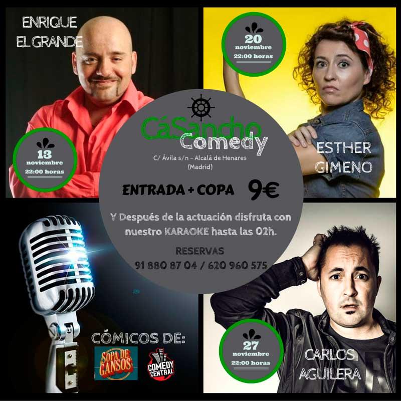 los mejores monologuistas a Cá Sancho Comedy
