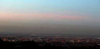 Foto de EL PAIS : Contaminación en Madrid desde Alcalá de Henares. / Jaime Villanueva