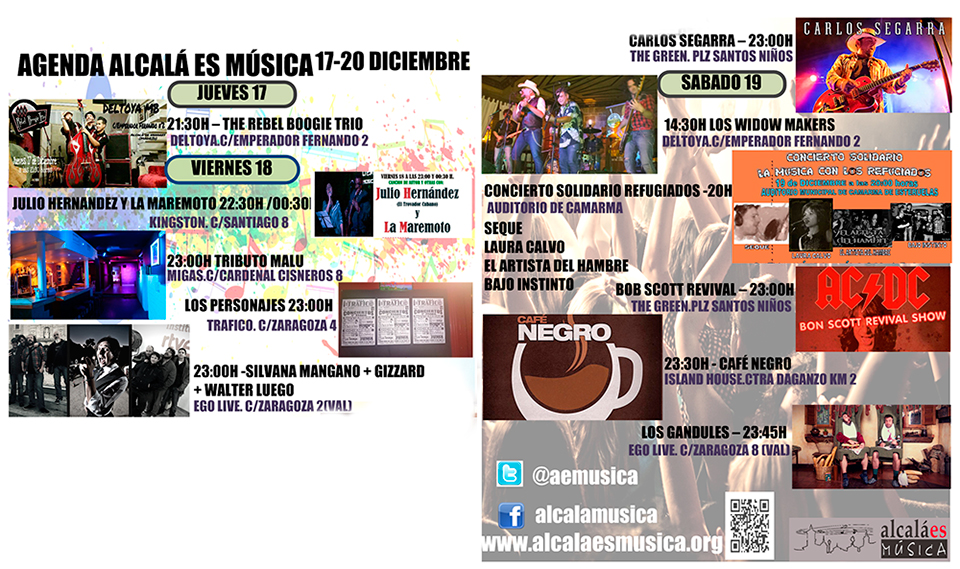 Agenda Musical Alcalá de Henares