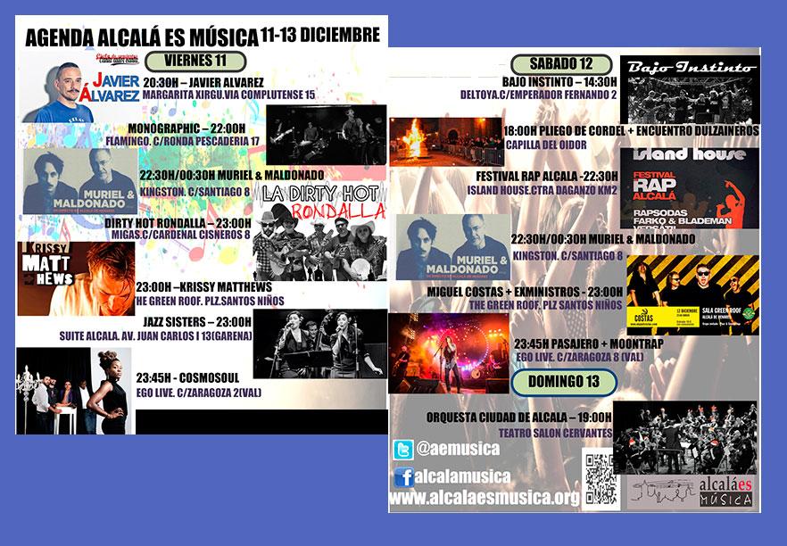 Agenda musical en Alcalá de Henares Diciembre 2015