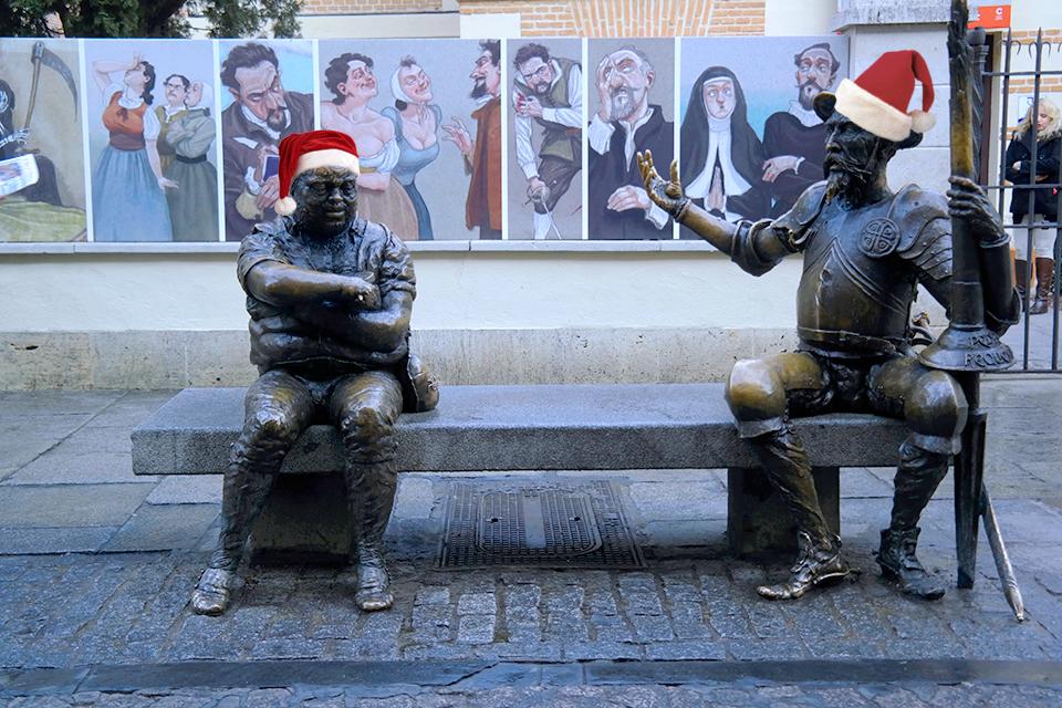 Don Quijote y Sancho Panza por Navidad