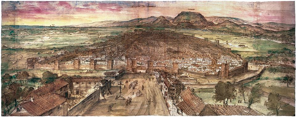 Alcalá de Henares por Anton van der Wyngaerde