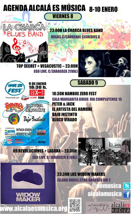 Agenda Musical Fin de Semana del 8 al 10 de enero en Alcalá de Henares