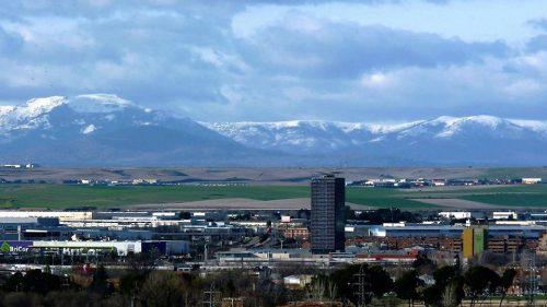 Una vista invernal de la Garena