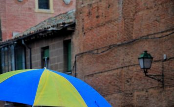 Dia de paraguas en Alcalá de Henares