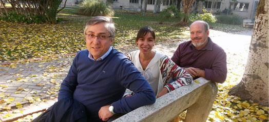 Manuel Rosa, Mercedes Conde e Ignacio Martínez