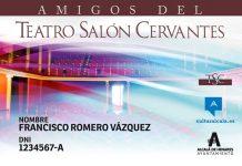 Nuevo carné de Amigos del Teatro Salón Cervantes