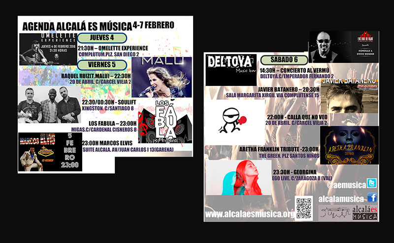 Agenda Musical febrero Alcalá de Henares