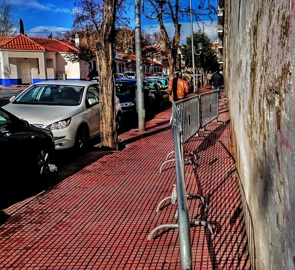 Peligro en la calle Alameda de Alcalá de Henares