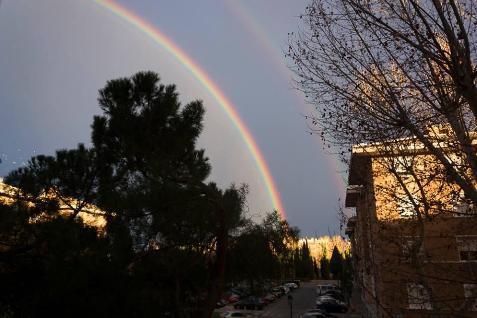 Arco Iris doble desde el Polígono Puerta de Madrid