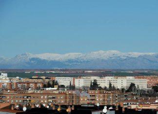 """Nieve en la sierra de Madrid"""" [ Vista desde Alcalá ]"""