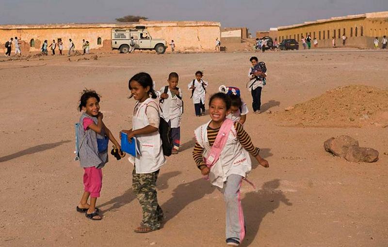 Campo de refugiados saharauis en Tinduf