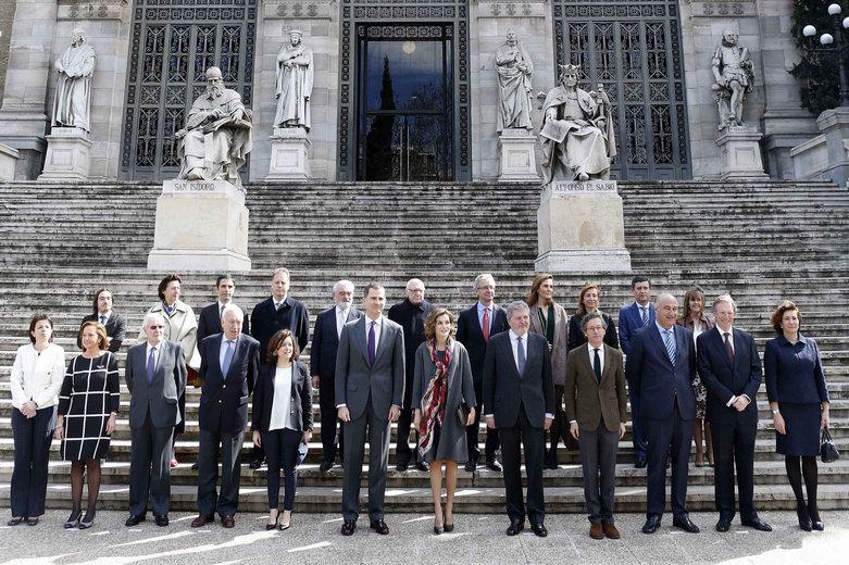 Los reyes inauguran la exposición de cervantes en la biblioteca nacional