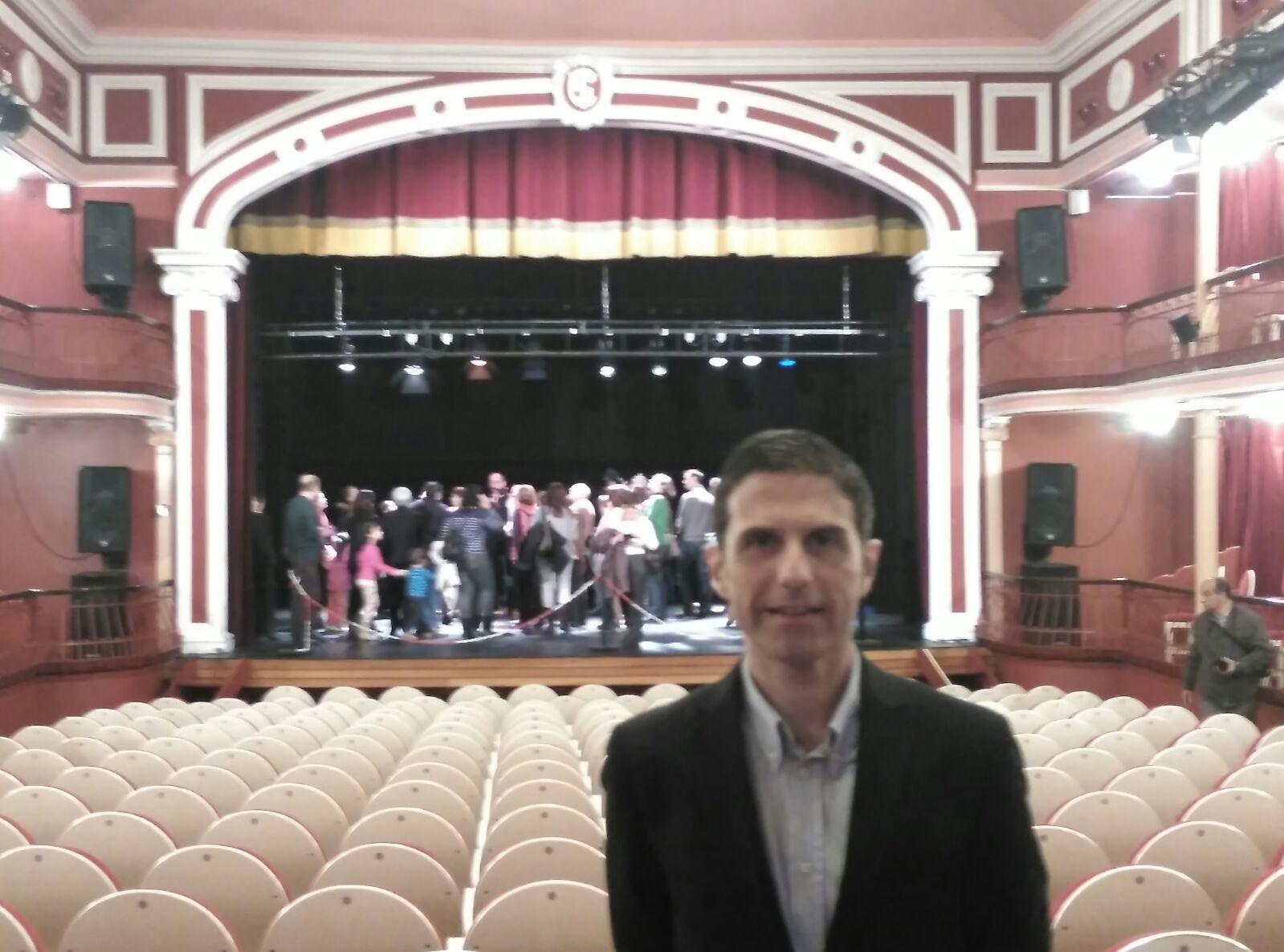 Javier Rodríguez Palacios en el Teatro Salón Cervantes