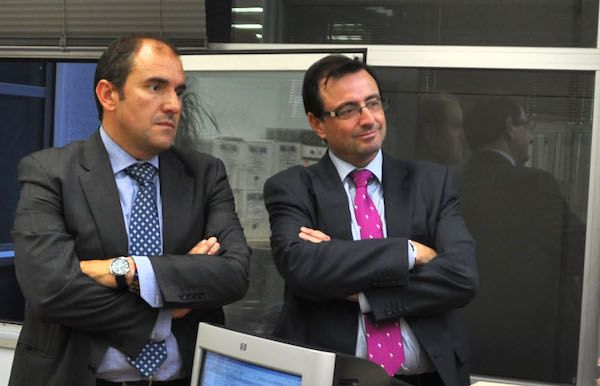 Jesús Domínguez, ex-concejal de urbanismo, a la derecha, junto al ex-alcalde Javier Bello