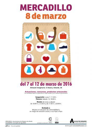 """Cartel del """"Mercadillo 8 de marzo"""""""