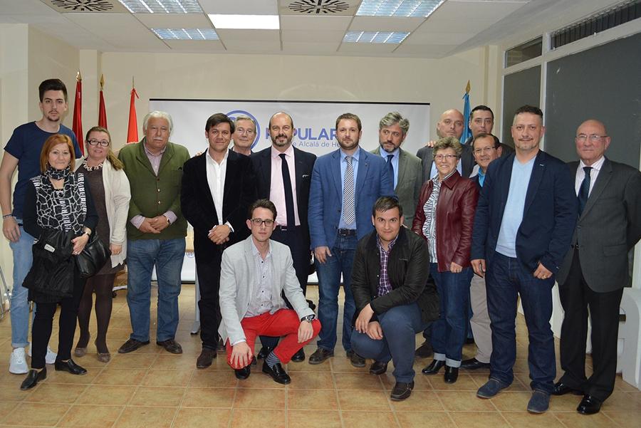 Encuentro de afiliados del PP de Alcalá de Henares con Pedro Rollán