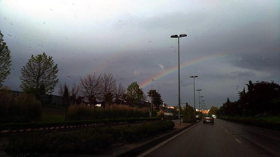 Arco Iris desde el coche de Maria