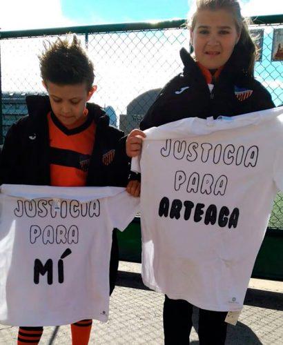 Lucas Arteaga, jugador de fútbol de siete años