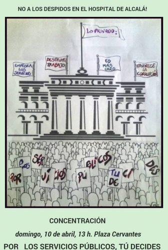 Concentración en Alcalá contra el deterioro de servicios públicos