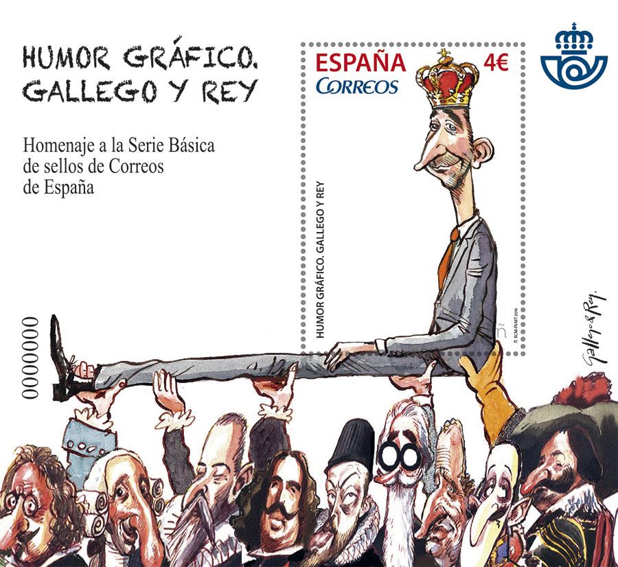 El sello que se ha presentado hoy forma parte de un bloque que muestra una ilustración firmada por Gallego & Rey