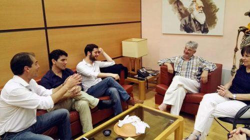 El portavoz y diputados del grupo C´s en una reunión con Enrique Baquedano, Director del Museo Arqueológico Regional