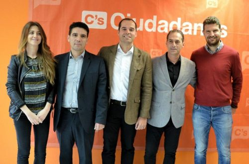 Lezcano posa con Diputados de C´s en la Asamblea de Madrid