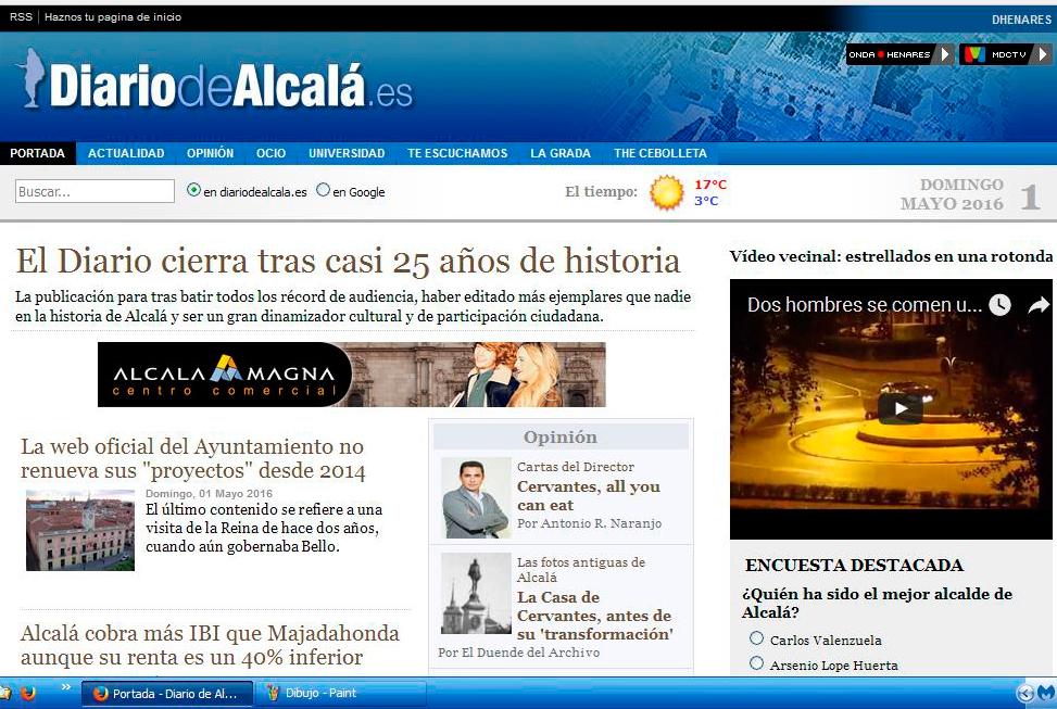 Cierra Diario de Alcalá