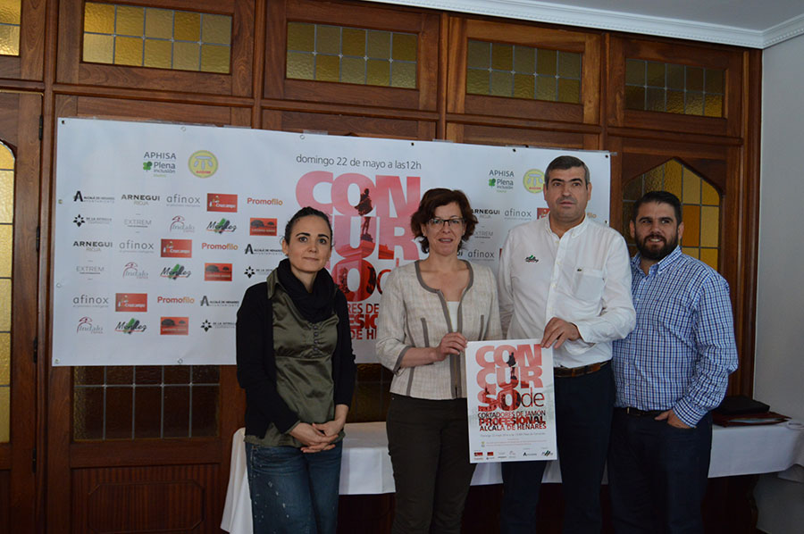 concurso benéfico de cortadores de jamón en Alcalá de Henares
