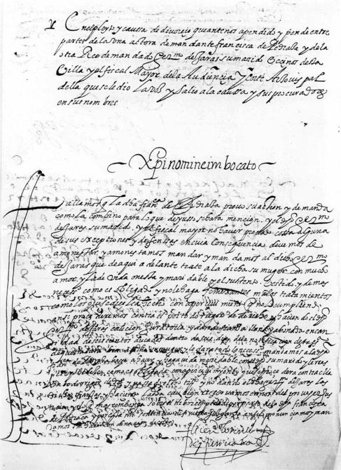 La sentencia religiosa con la que Francisca no se conformó.