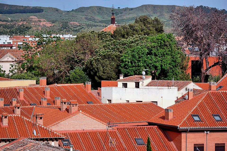 Cerros y tejados de Alcalá