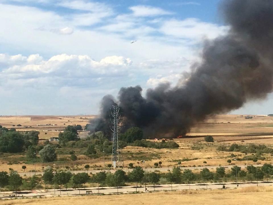 Incendio en Espartales Norte