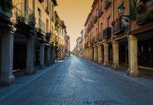 Calima en la Calle Mayor de Alcalá