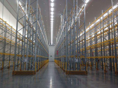 Vista del interior de las nuevas instalaciones de Lidl en Alcalá