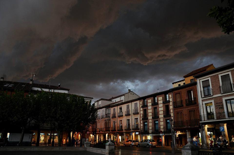 Aparatosa tormenta que anuncia el otoño