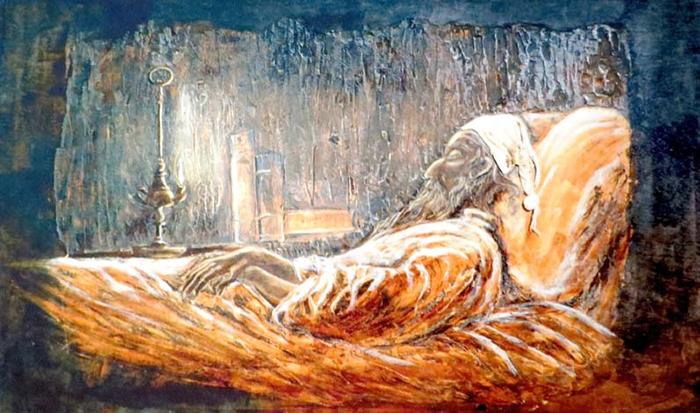Muerte de Don Quijote. Obra de Gabriel Alarcón
