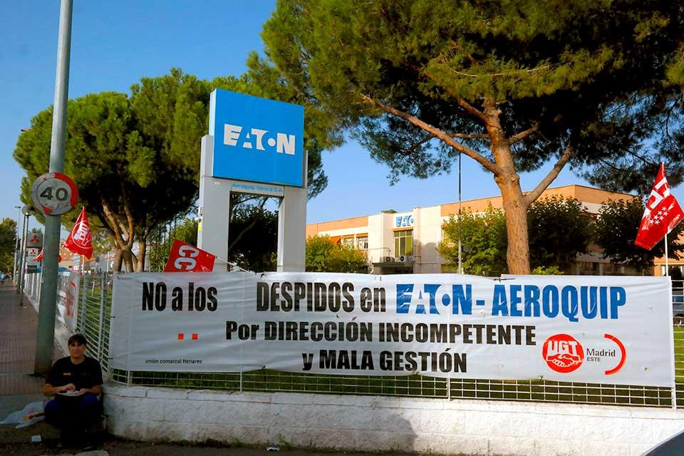 En las puertas de la empresa esta mañana 5 de octubre. Foto de Pedro Enrique Andarelli