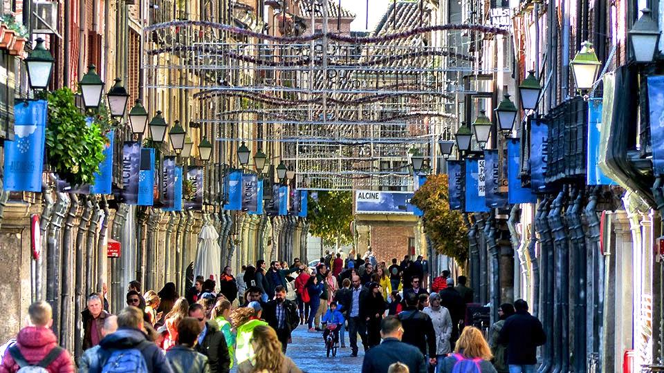 Un domingo de noviembre por la calle Mayor