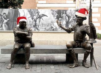 Don Quijote y Sancho Panza te felicitan la Navidad