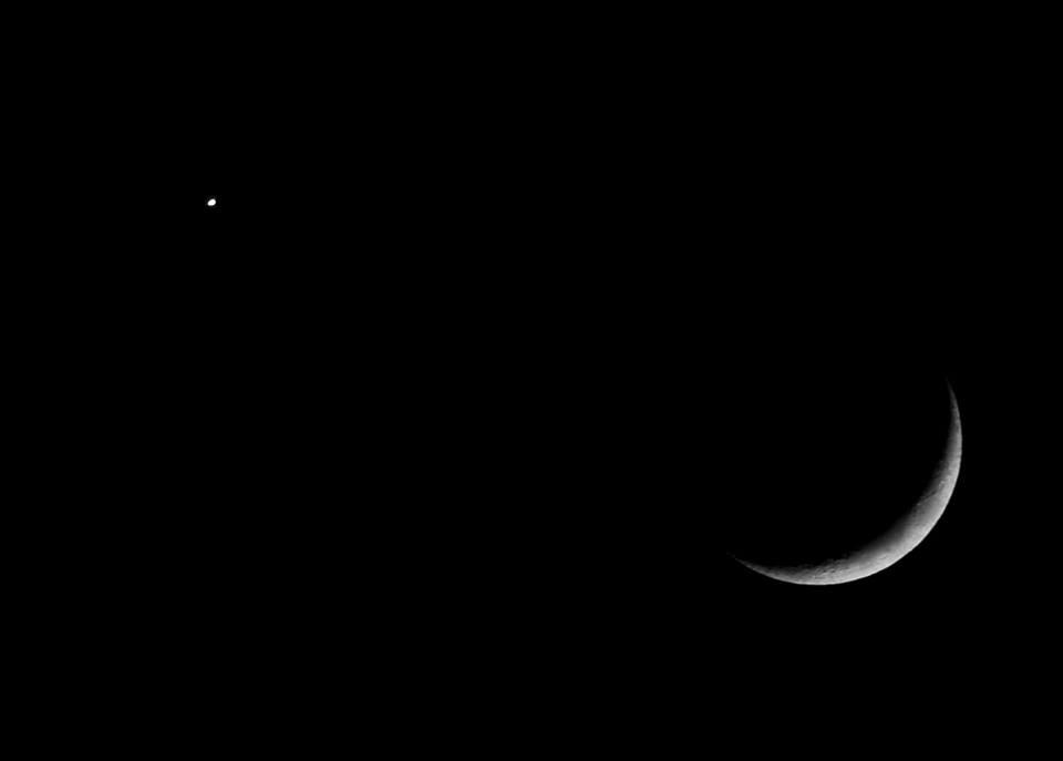 Luna y lucero del Alba