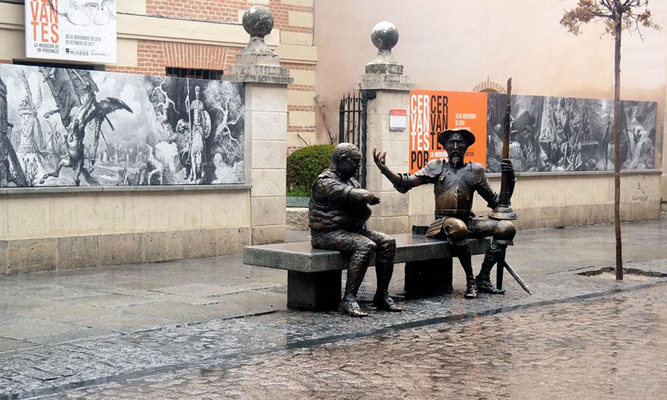 Un fin de enero lluvioso en la patria de Cervantes