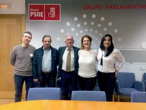 Con el Grupo Parlamentario socialista