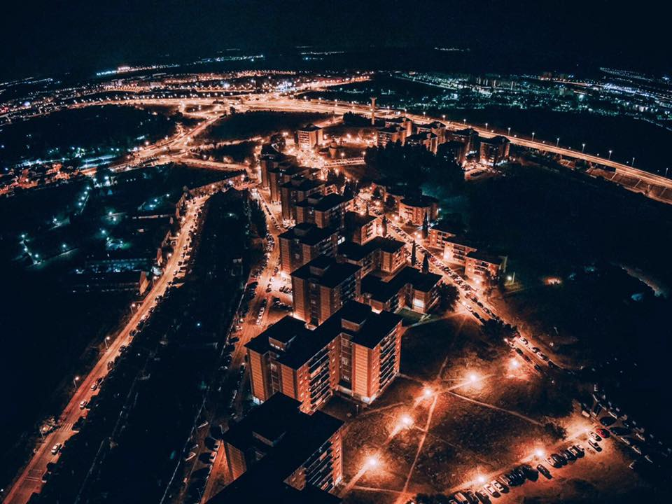 Vista aérea de colonia Ciudad del Aire