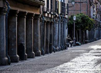 La calle Mayor bajo la canícula