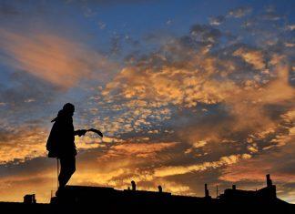 Atardecer cervantino en Alcalá de Henares