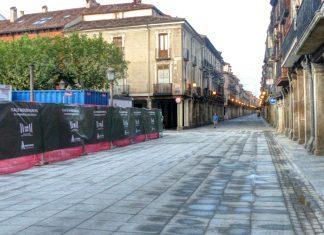 La Plaza de Cervantes semipeatonalizada