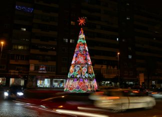 Rotonda de Navidad en Alcalá